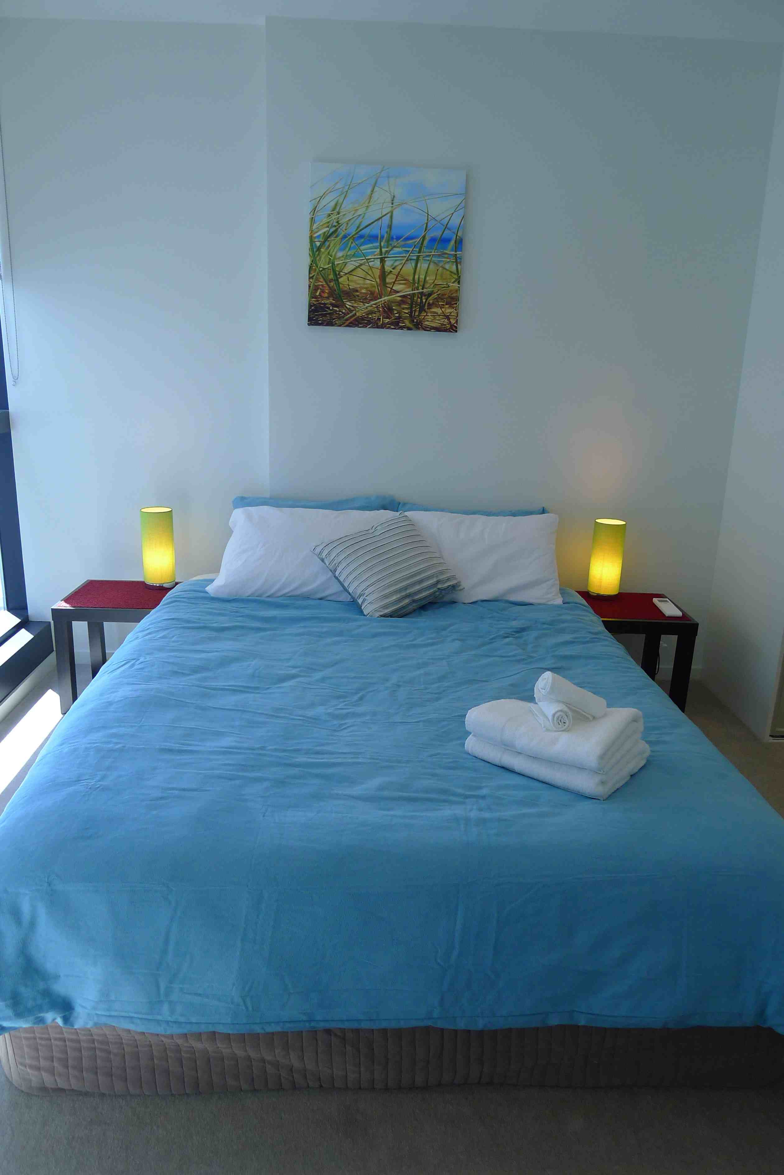 long term accommodation is a three bedroom 3 x queen beds two